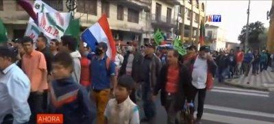 Incidentada marcha campesina por Asunción