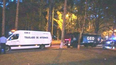 Trasladan a 70 presos de Alto Paraná a Misiones