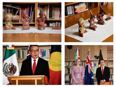 Australia devuelve a México piezas arqueológicas confiscadas