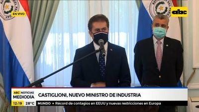 Luis Castiglioni asume como titular del Ministerio de Industria y Comercio