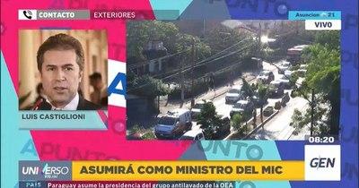 """La Nación / Castiglioni: """"Vamos a recuperar los empleos que se han perdido, ya empecé a trabajar"""""""
