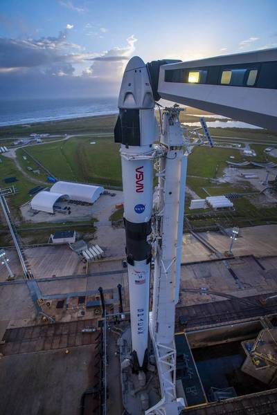 La NASA enviará el sábado a 4 astronautas hasta la estación espacial en el SpaceX