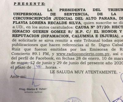 Jueza quiere obligar a director de Concierto a producir pruebas en su contra y revelar sus fuentes