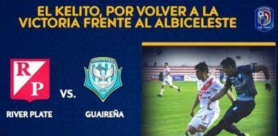 River y Guaireña por la 5ª fecha del Clausura