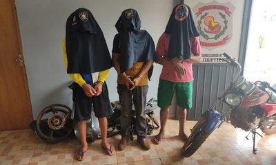Arrestan a tres sujetos que acababan de «carnear» una motocicleta