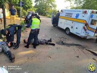 Linces, heridos en accidentes de tránsito en Luque •