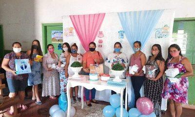 18 madres de Mallorquín participaron de taller «Esperando a tu Bebé»