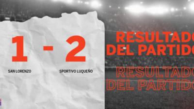 Por una mínima ventaja Sportivo Luqueño se lleva los tres puntos ante San Lorenzo