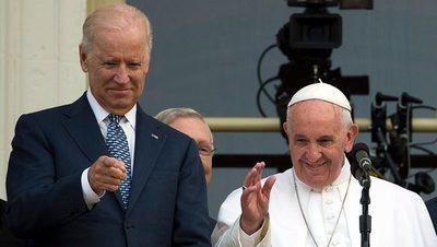 El papa Francisco felicitó a Joe Biden