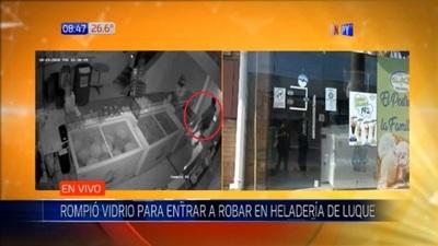 Limpiavidrio se lleva caja registradora de una heladería en Luque