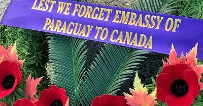 """La Nación / Paraguay se suma al """"Día del Recuerdo"""" en Canadá"""