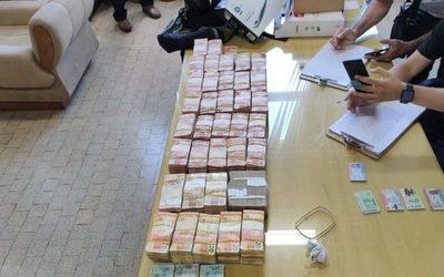 Detienen a brasileño que transportaba 340.000 reales de dudosa procedencia