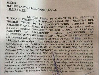 Juzgado ordena incautación de camión del que se habría apropiado dolosamente el abogado Ivo Lezcano