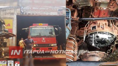 MECANICO DONÓ MANO DE OBRA PARA REPARAR HIDRANTE DE BOMBEROS DE MAYOR OTAÑO