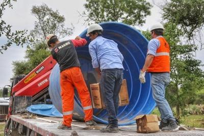 Comunidad ayorea recibe asistencia para provisión de agua