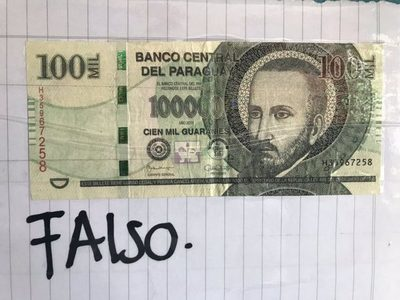 Alertan sobre circulación de billetes de G. 100.000 falsos