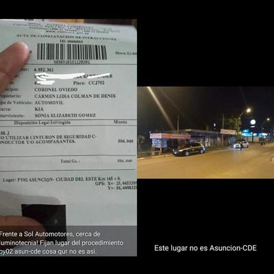 MULTAN POR NO USO DE CINTURÓN EN OVIEDO