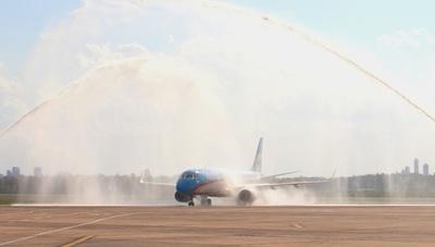 Aerolíneas Argentinas restableció sus vuelos regulares a Paraguay