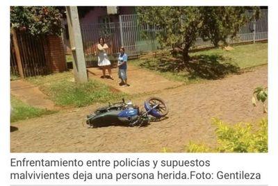 CDE: Enfrentamiento entre policías y supuestos malvivientes dejó un herido
