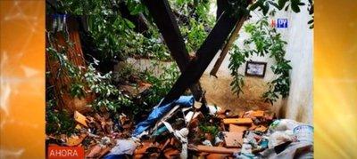 Niña quedó atrapada bajo escombros tras caída de árbol sobre su casa