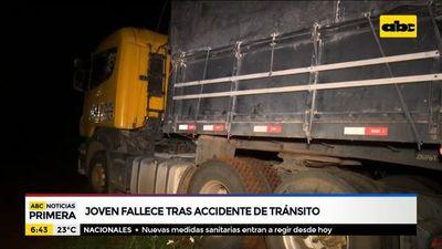 Joven fallece tras accidente de tránsito