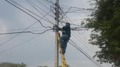 ANDE promete reponer para el mediodía el 100 por ciento del servicio eléctrico