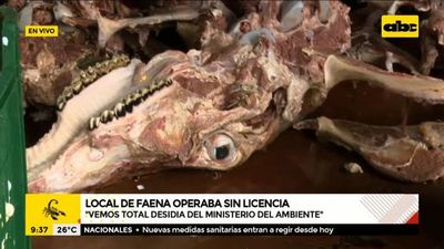 Comuna asuncena clausura local de faena ilegal