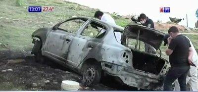 Hallan un vehículo incinerado, en la valijera se encontraba un cadáver