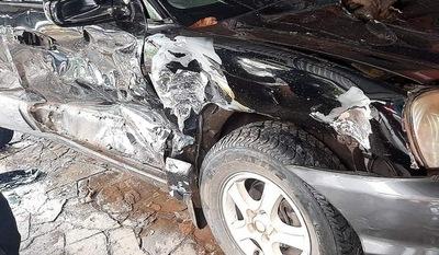 Mujer embarazada sufre lesiones en accidente de tránsito