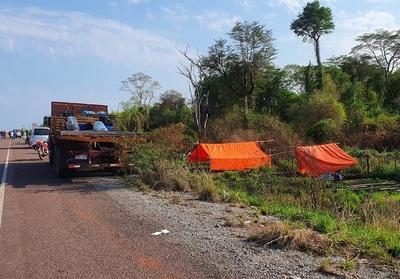 Concepción: personas sin tierras acampan a la espera de mensura judicial
