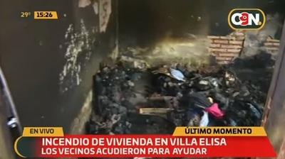 Incendio ocasiona daños materiales en vivienda de Villa Elisa