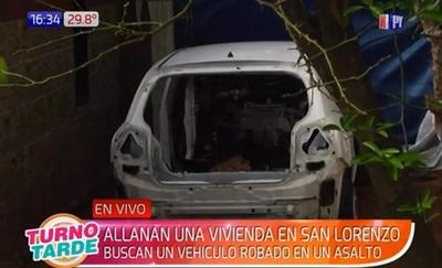 Hallan vehículo robado en vivienda de San Lorenzo