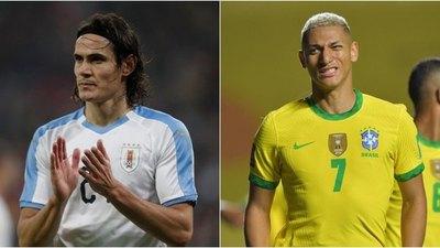 Uruguay-Brasil, un esperado choque con bajas importantes