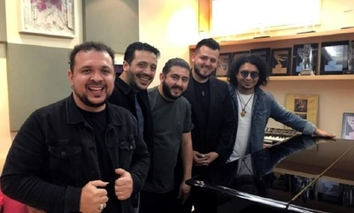 El grupo Tierra Adentro en la entrega del Latin Grammy