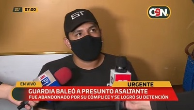 Guardia que frustró asalto dice estar tranquilo pese a detención