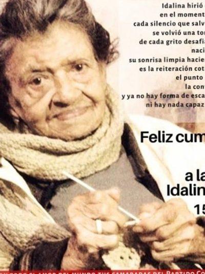 Muere Idalina Gaona, símbolo de lucha contra la dictadura