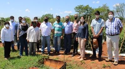 Instituciones acompañan a productores de Caaguazú en la implementación de proyectos agrícolas