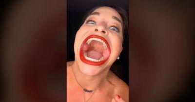 Mujer sorprende en TikTok debido al impresionante tamaño de su boca