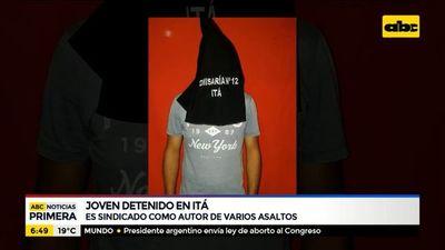 Detienen en Itá a joven implicado en varios asaltos
