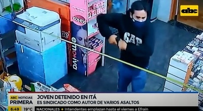 Capturan a sospechoso de varios asaltos en Itá