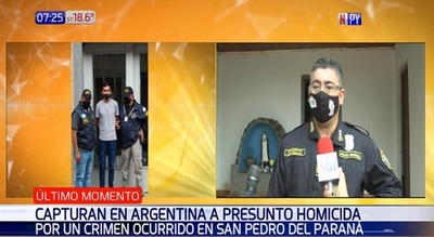 Capturan en Argentina a paraguayo sospechoso de homicidio