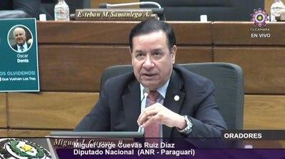 Luego de estar en prisión, hoy Cuevas vuelve a asumir su banca en Diputados