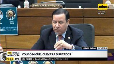 Miguel Cuevas volvió a la Cámara de Diputados