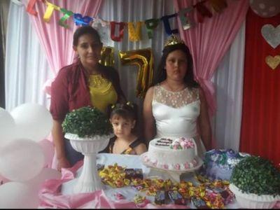 Vecinos festejaron los 15 a una joven con cáncer