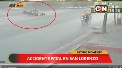 Barrio San Luis: Motociclista falleció luego de arrollar a un peatón