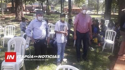 SENADORES VISITARON COMUNIDAD INDÍGENA DE YSYRY MIRÎ ANTE NUEVO CONFLICTO DE TIERRAS
