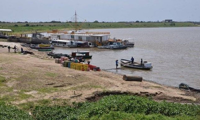 Río Paraguay superó el punto cero tras dos meses de bajante