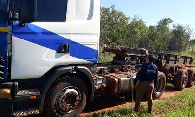 Recuperan camión robado en Itakyry