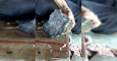 Hombre se convierte en millonario gracias a un meteorito que cayó en su casa