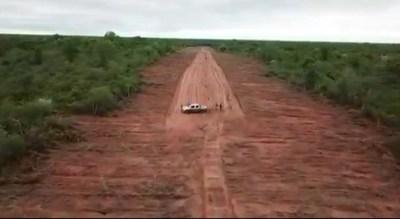 Antidrogas descubre una pista de aterrizaje clandestina en Bahía Negra